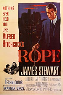 American Gift Services - Rope Alfred Hitchcock James Stewart Vintage Movie Poster - 11x17