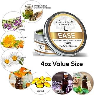 4 oz - Premium Organic Hemp Cream-Pain Relief for Arthritis, Inflammation & Joint Pain-750mg Hemp Extract w/Essential Oils-Hemp Salve for Psoriasis, Eczema, Sciatica, Neck, Back and Knees- Made in USA