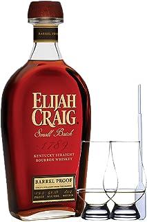 Elijah Craig Barrel Proof Bourbon Whiskey 0,7 Liter  2 Glencairn Gläser  Einwegpipette 1 Stück