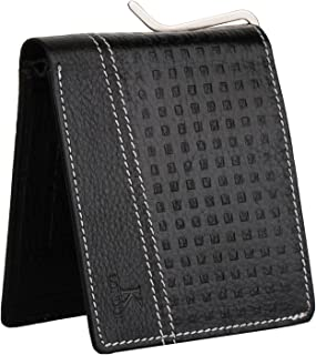 K London Exeter Black Money Clip Card Coin Pocket Men's Wallet (6006_Black_mc)
