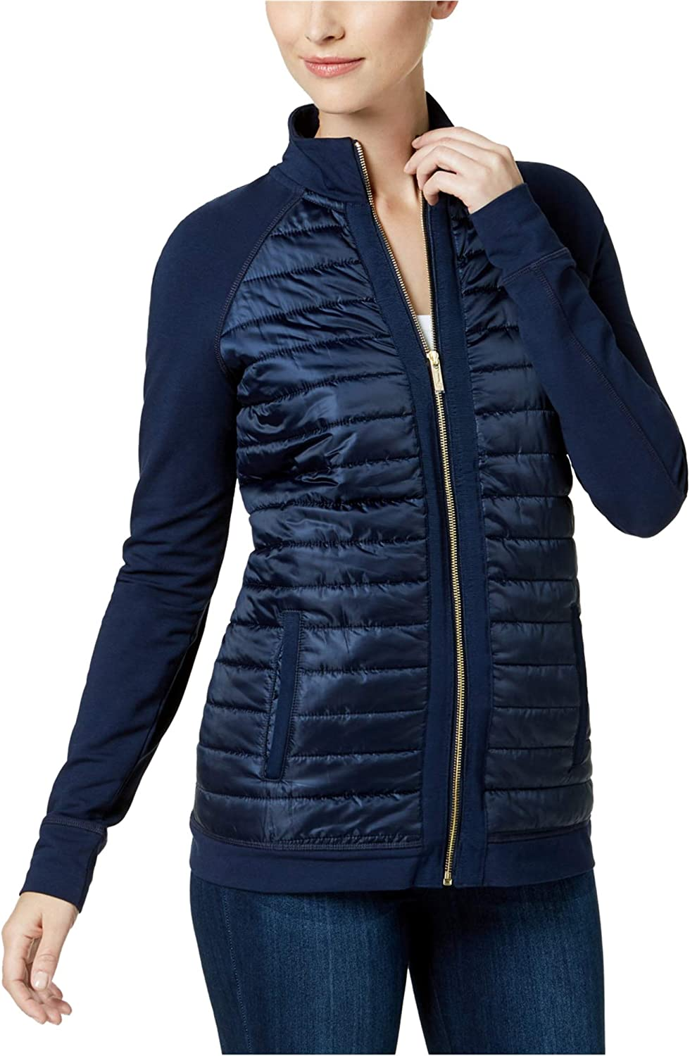 Charter Club Womens Quilted ZipFront Jacket