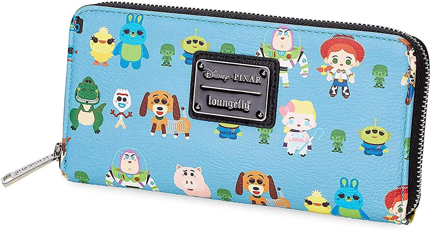 Loungefly Courier shipping free shipping Disney Toy Story Chibi Long Beach Mall Zip Around Leather Wallet Faux