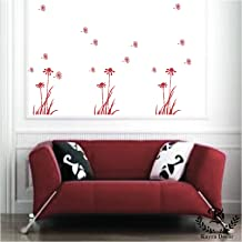 Kayra Decor Flying Dandelions Reusable DIY Wall Stencil Painting for Home Decoration (PVC, 16-inch x 24-inch)