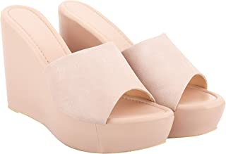Do Bhai Women Solid Casual Office/Party/Spacial Needs Slip On Wedges Heels