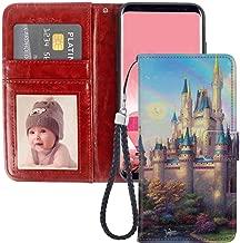 Galaxy S8 (5.8-Inch) Wallet Case Cinderellas Castle Fantasy Hd New Painting
