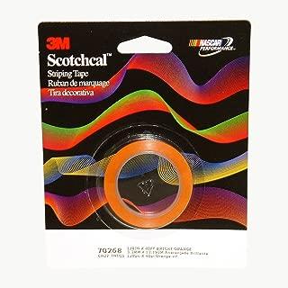 3M Scotch Scotchcal Striping Tape, 1/8 inch, Bright Orange, 70268