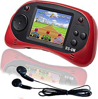 EASEGMER 16 Bit Kids Handheld Games Built-in 200 HD Video Games, 2.5 Inch Portable Game Player with Headphones - Best Trav...