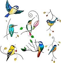 7 Stuks Vogelstickers Voor Ramen Vogels Sticker - 3D Glasschilderij Voyeur Vogel Stickers Muurstickers Slaapkamer Woonkame...