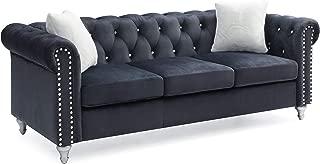 Glory Furniture Raisa , Black Sofa, 30