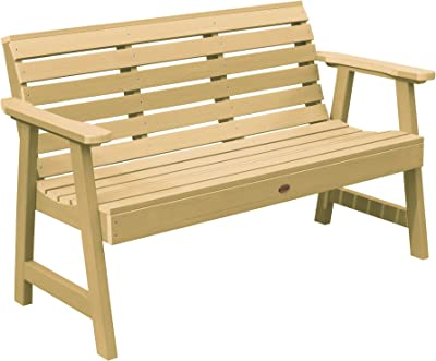 highwood AD-BENW3-SND Weatherly Garden Bench, 5 Feet, Sandstone