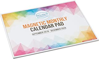 Magnetic Calendar Pad for Refrigerator, September 2019 to December 2020, 11 x 8.5, Thick Monthly Calendar Paper, Strong Fridge Magnets, 2019-2020 Academic (16 Months)