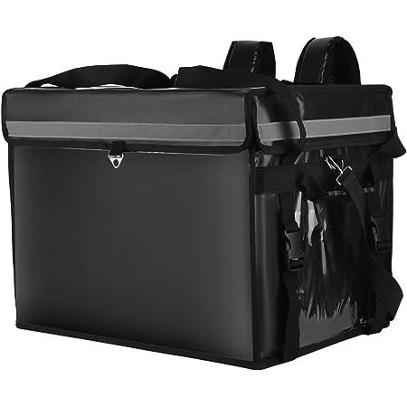 SEAAN Sac isolé de livraison de nourriture, sac à dos réutilisable imperméable de transport de repas de boisson (44L-44x34x34cm)