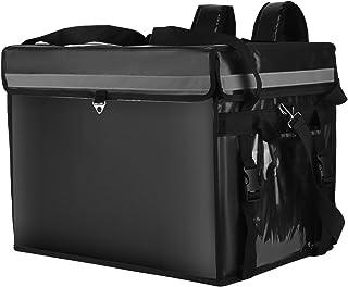 SEAAN Sac isolé de livraison de nourriture, sac à dos réutilisable imperméable de transport de repas de boisson (62L-48x36...