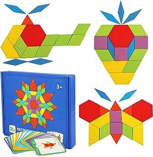 LEADSTAR Tangram Puzzle, Tangram Madera Shape Puzzle Set
