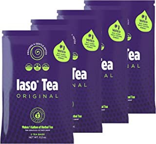 TLC Total Life Changes IASO Natural Herbal Detox Tea Bags - Four Pack (8 Tea Bags)