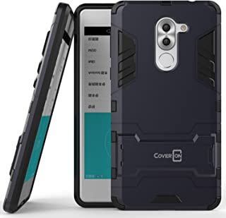 Huawei Honor 6X Case, Huawei Mate 9 Lite Case, CoverON [Shadow Armor Series] Hard Slim Hybrid Kickstand Phone Cover Case for Huawei Honor 6X or Mate 9 Lite- Navy Gray