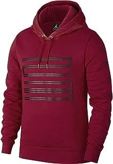 Men's Sportswear AJ 11 Hybrid Pullover Hoodie Gym RED/Black