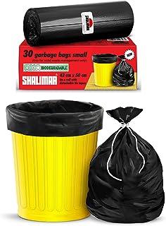 Shalimar Premium OXO - Biodegradable Garbage Bags (Small) Size 43 cm x 51 cm 6 Rolls (180 Bags) ( Dustbin Bag / Trash Bag ...