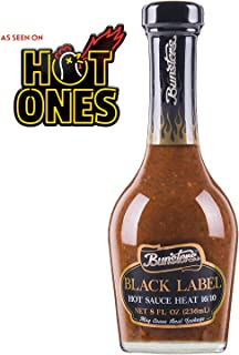 Bunsters Hot Ones Hot Sauce - Black Label 16/10 Heat Chili Pepper Sauce