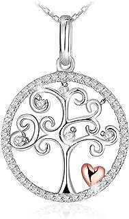 Swarovski Elements Crystal 925 Sterling Silver Pendant Necklace for Female Women Ladies Girls Gift JRosee Jewelry JR915