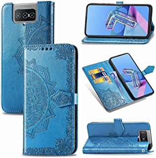 Cellphone case. For Asus Zenfone 7 Pro ZS671KS Embossed Mandala Pattern TPU + PU Horizontal Flip Leather Case with Holder ...