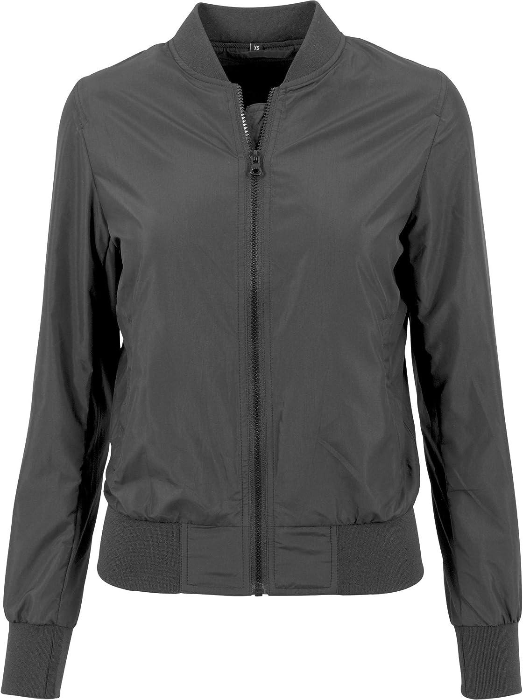 Build Your Brand Womens/Ladies Nylon Bomber Jacket