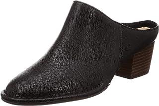 Clarks Women Spiced Isla Black Leather Fashion Sandals