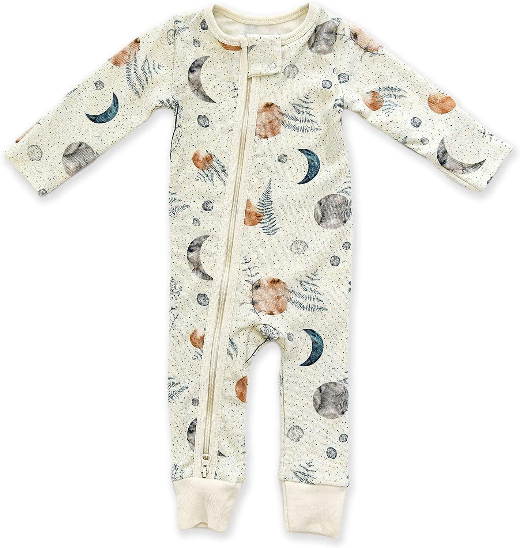 Earthy Organic Cotton Ranking TOP1 Baby Pajamas 2-Way Front Sleepe 40% OFF Cheap Sale Zip Zipper