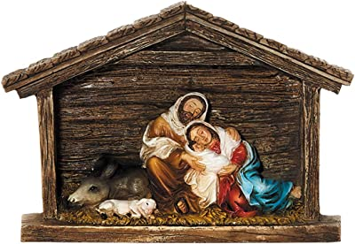 Needzo Resin Sleeping Holy Family Christmas Nativity Scene Figurine, 5 1/2 Inch