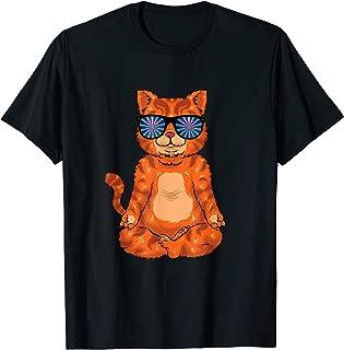 Yoga Cat Trippy Trance Glasses Shades Funny Rave T-Shirt