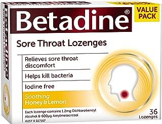 Betadine Sore Throat Lozenges Honey & Lemon 36