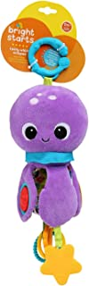 Bright Starts Twirly Whirly Easy Travel Take-Along Plush Toy, Ages Newborn + (Style May Vary)