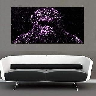Pintura sobre lienzo mono de gran tamaño gorila Animal Quadros carteles e impresiones imágenes artísticas de pared para de...