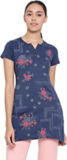 IN Love Women's Cotton Printed Henley T Shirts (HNLP-3100)