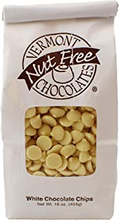 Vermont Nut Free Chocolates Baking Chips (White Chocolate) 16 oz, 2 Bags