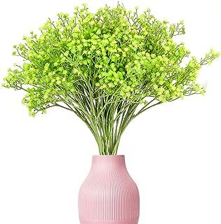 Yunuo 12PCS Silk Artificial Baby's Breath Flower Wedding Home Decor Valentine's Gift (Green)