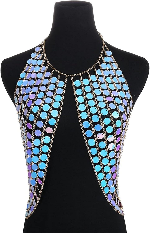 XYMJ Metal Body Chain Jewelry Challenge the lowest price Bra Underwear OFFicial store Bi Chest Belly