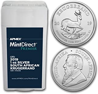 2019 South Africa 1 oz Silver Krugerrand MintDirect® Premier Tube Silver Brilliant Uncirculated