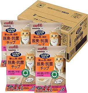 ニャンとも清潔トイレ 脱臭・抗菌チップ 大容量 小さめ 4.4L×4個(ケース販売) [猫砂]