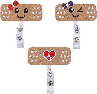 Pyatofyy Lot de 3 porte-badges pour infirmière - Badge RN - Cadeau parfait pour les femmes