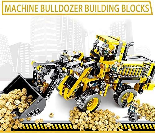 Kinder montierte Bausteine   Bulldozer montierte Bausteine  imulation Auto Spielzeug Puzzle Montage