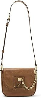 MICHAEL Michael Kors James Medium Leather Saddle Bag (Dark Caramel)