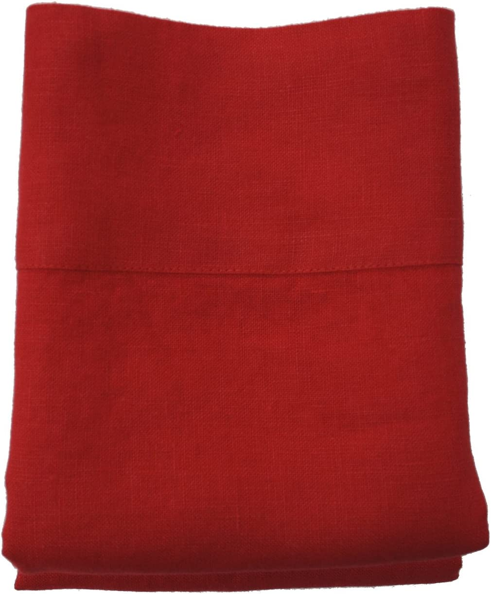 Linoto 100% Linen Pillowcases Baltimore Mall Set Size King 39x20 Max 84% OFF Red