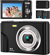 Digital Camera, EastPoint FHD 1080P 36MP Vlogging Camera 16X Digital Zoom, LCD Rechargeable, Portable Mini Compact Camera ...