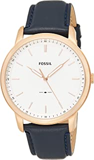 Fossil Men's 'Minimalist' Quartz Stainless Steel and Leather Casual Watch,