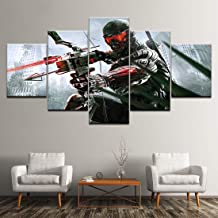HSART HD Print Modern Game Poster Crysis 3 Canvas Painting 5 Pieces Wall Art Modular Wallpapers for Living Room Home Decor,B,40x60x2+40x100x1+40x80x2