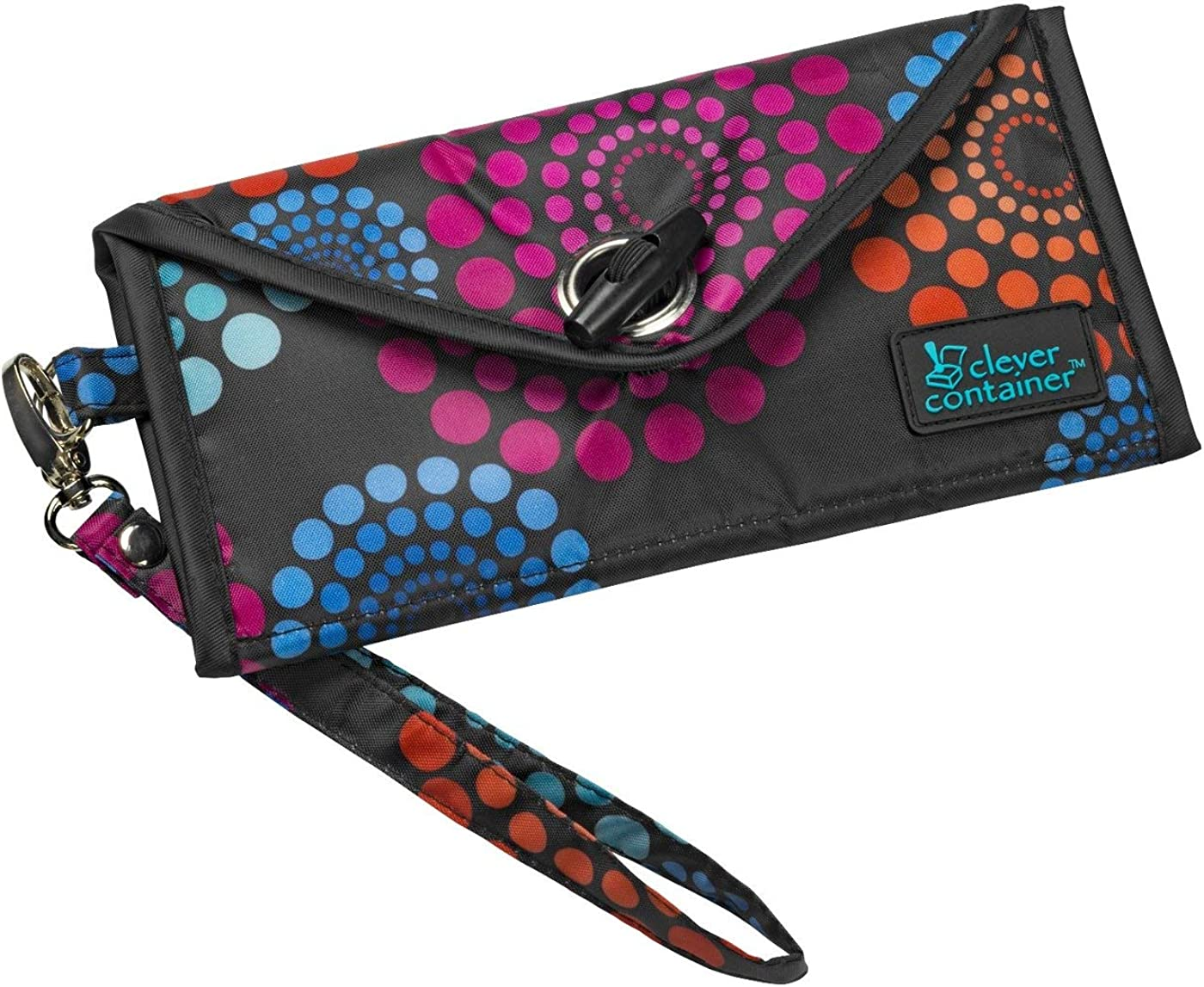 MAKE ROOM FOR LIFE – See It Through –Wristlet Wallet/3 Zipper Compartments with Detachable Strap/15.5