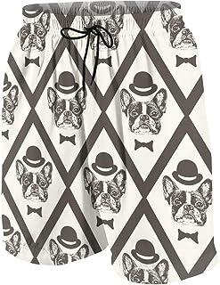 男の子 ハーフパンツ 海パン フレンチブルドッグのジェントルマン ショーツ ゴムウェスト 水陸両用 ビーチパンツ 通気 速乾 水泳 スイミング ウェア 7-20歳が適当