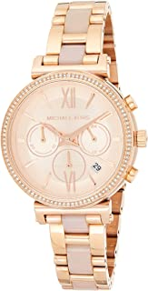 Michael Kors Womens Quartz Watch, Chronograph Display and Stainless Steel Strap MK6560