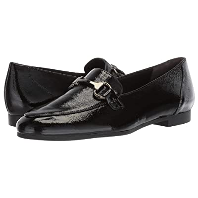 Paul Green Tosi Flat (Black Crinkled Patent) Women